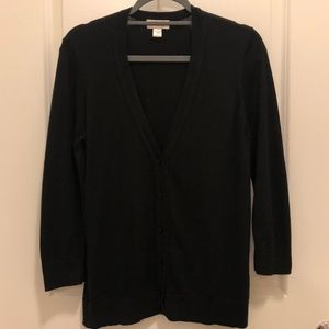 Black V-Neck Cardigan